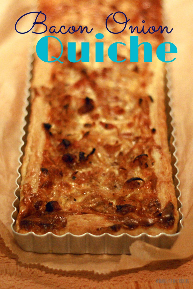 Onion Bacon Quiche | Bake to the roots