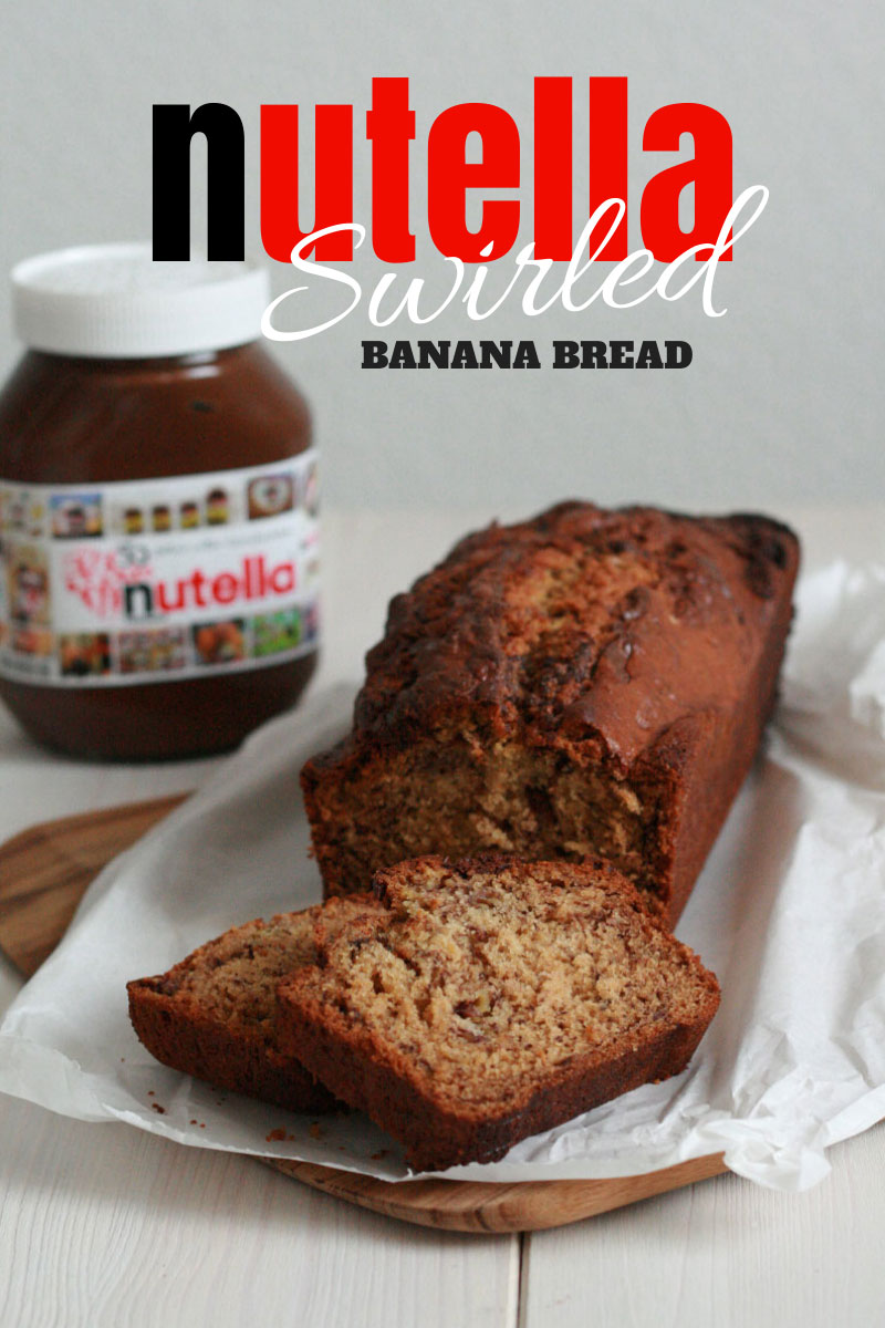 Nutella Swirled Banana Bread | Bake to the roots