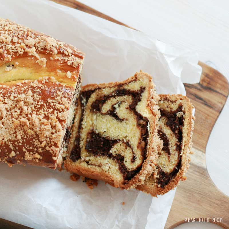 Schokoladen Babka aka. Chocolate Swirled Babka | Bake to the roots
