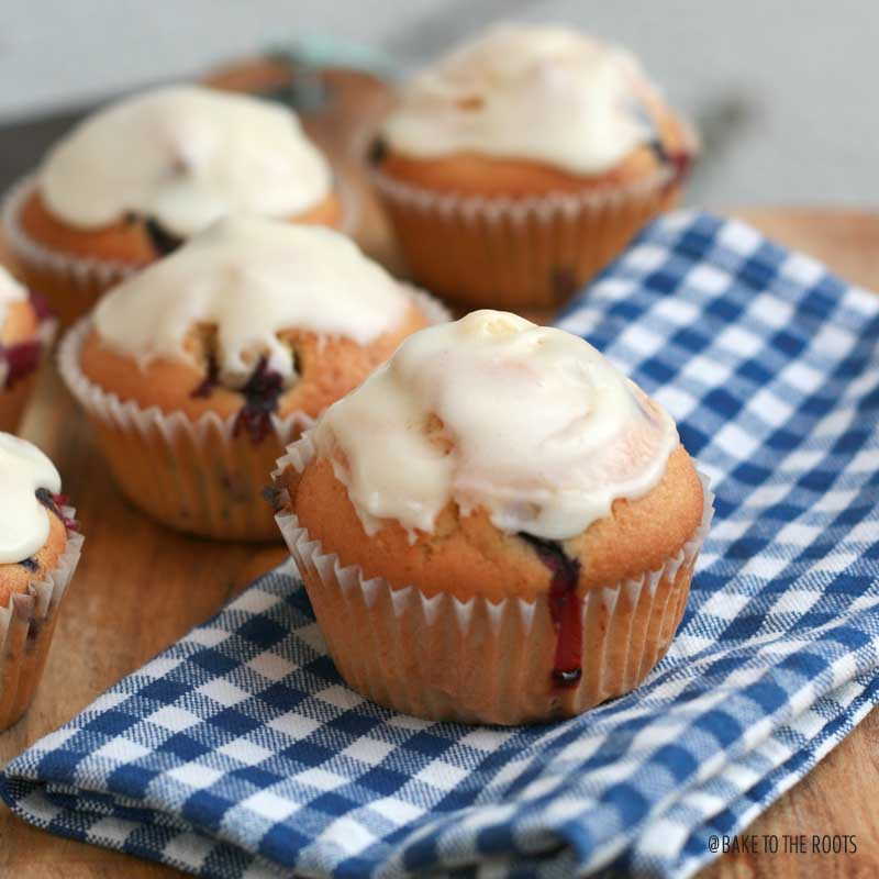 Blueberry Lemon Muffins | Bake to the roots