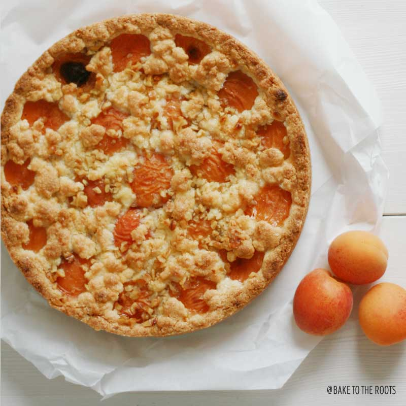 Apricot Crumb Cheesecake | Bake to the roots