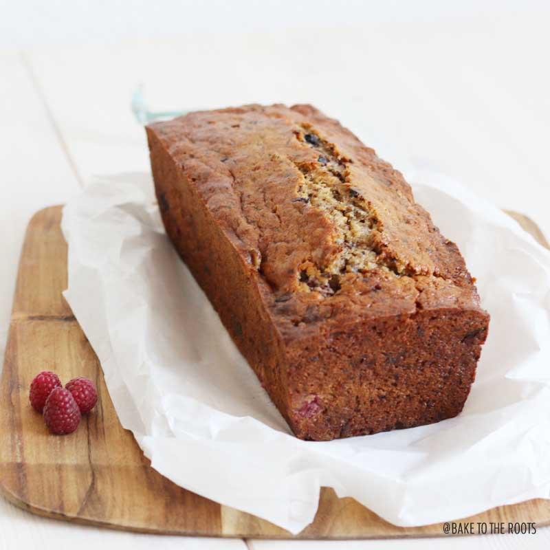 Banana Raspberry Bread | Bake to the roots