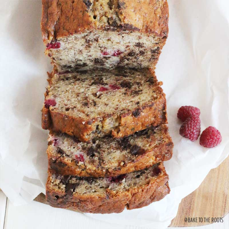 Banana Raspberry Bread | Bake to the roots