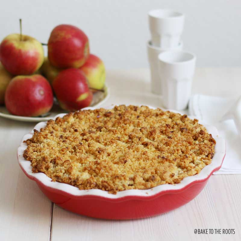 Apple Walnut Pie | Bake to the roots
