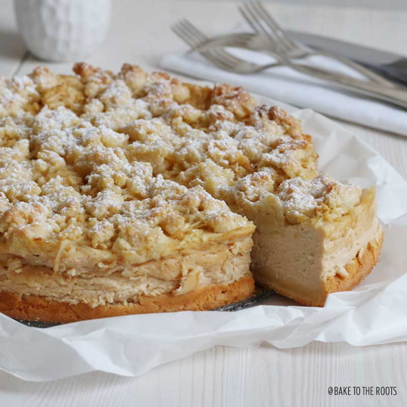 Apple Caramel Cheesecake | Bake to the roots