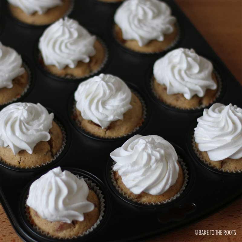 Damson Plum Muffins with Meringue Topping | Bake to the roots