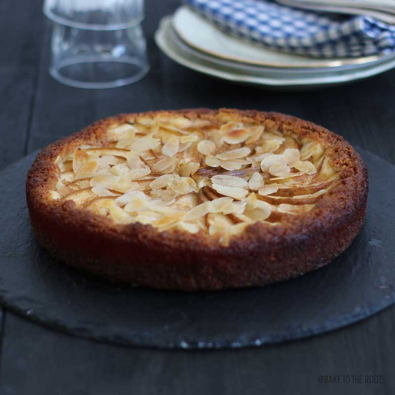 Pear Almond Cheesecake Tart | Bake to the roots