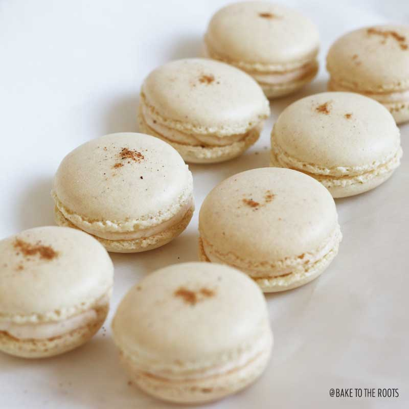 Eggnog Macarons | Bake to the roots