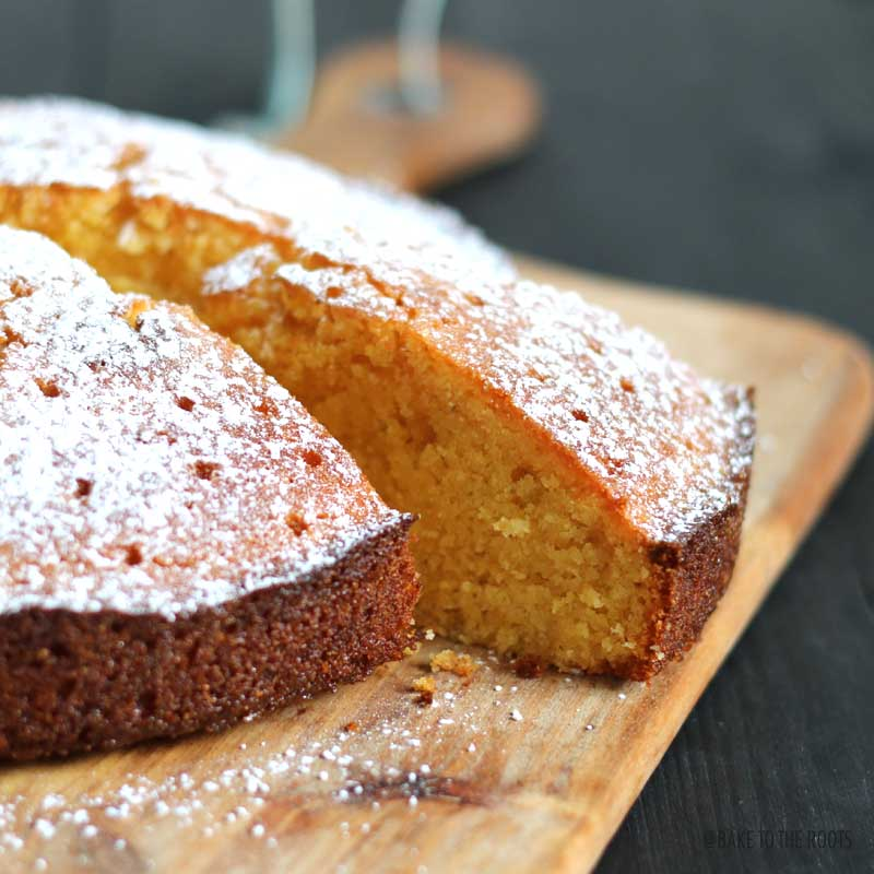 Lemon Lavender Polenta Cake | Bake to the roots