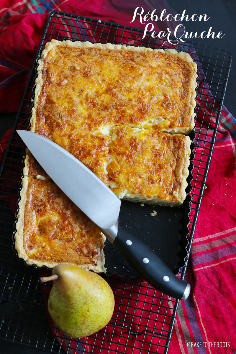 Reblochon Pear Quiche | Bake to the roots