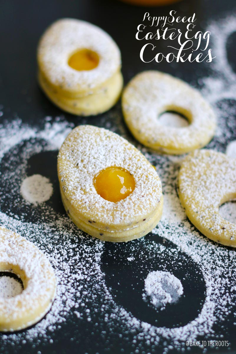 Poppy Seed Easter Egg Cookies | Bake to the roots