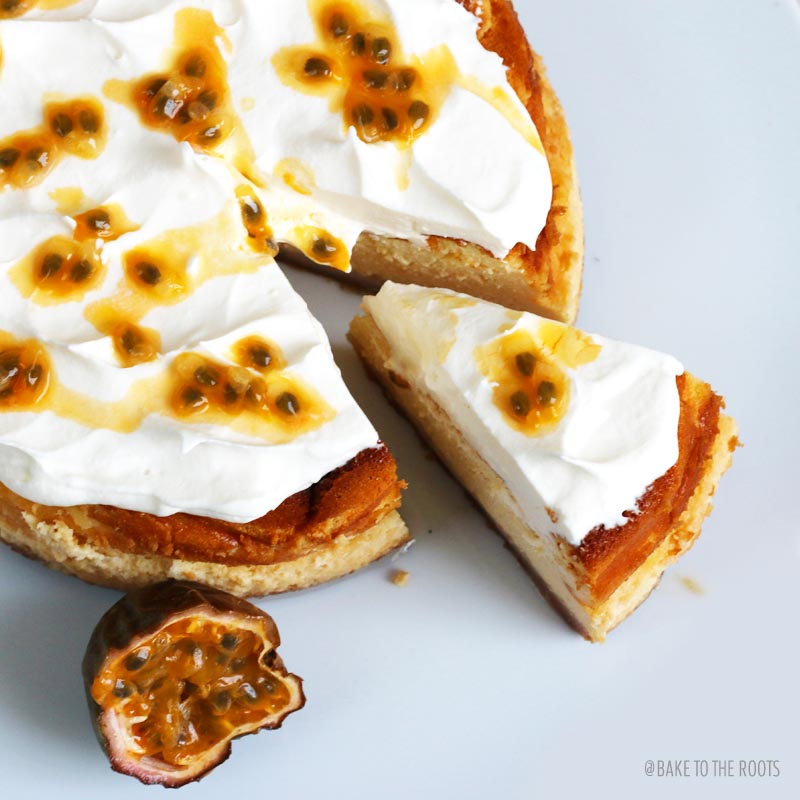 White Chocolate Passion Fruit Cheesecake | Bake to the roots