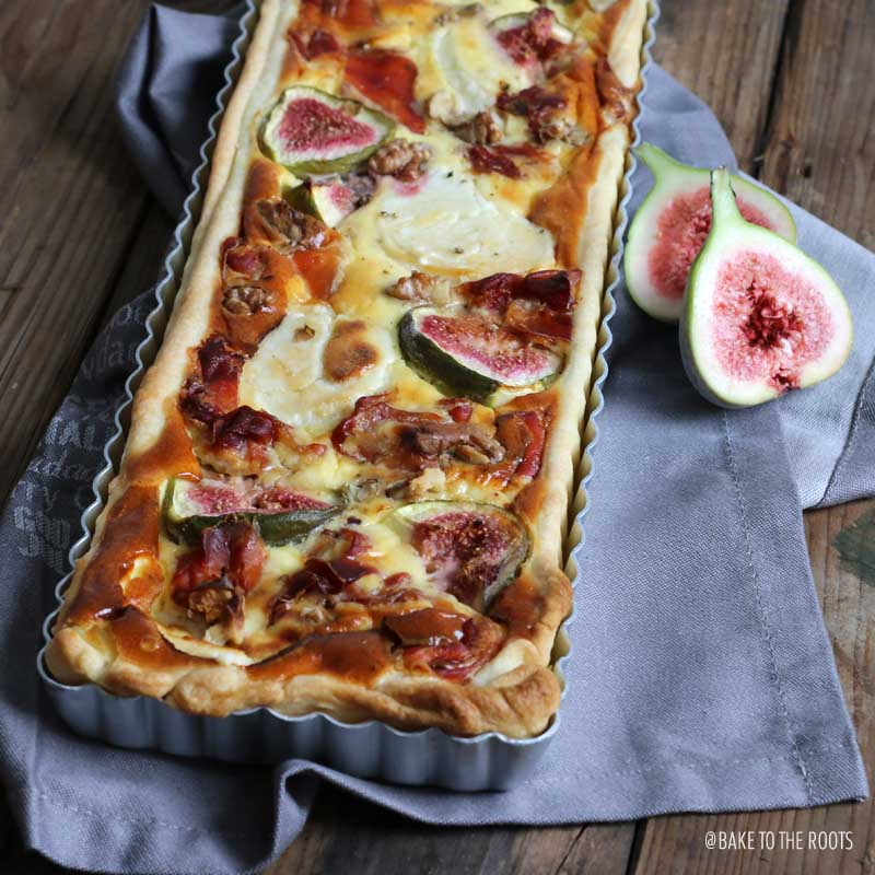 Goat Cheese Quiche with Serrano and Figs | Bake to the roots