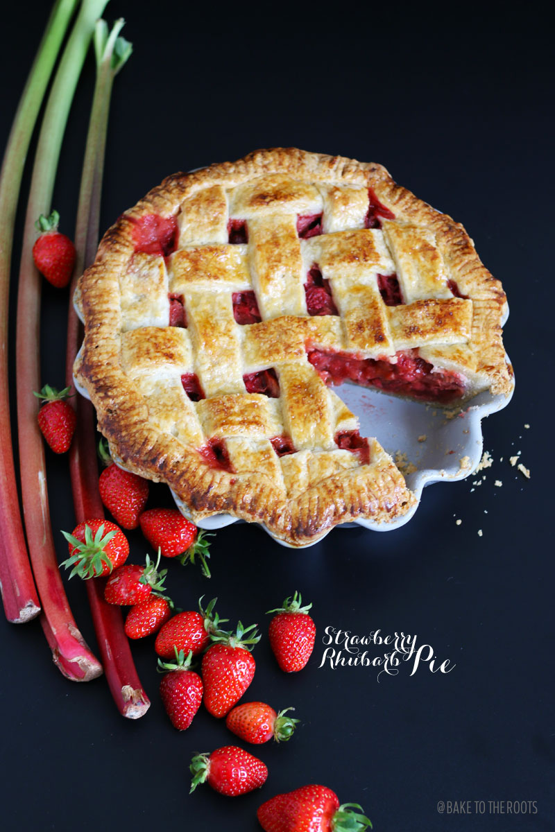 strawberry rhubarb pie bake to the roots. Black Bedroom Furniture Sets. Home Design Ideas
