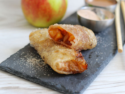 Apple Pie Spring Rolls   Bake to the roots