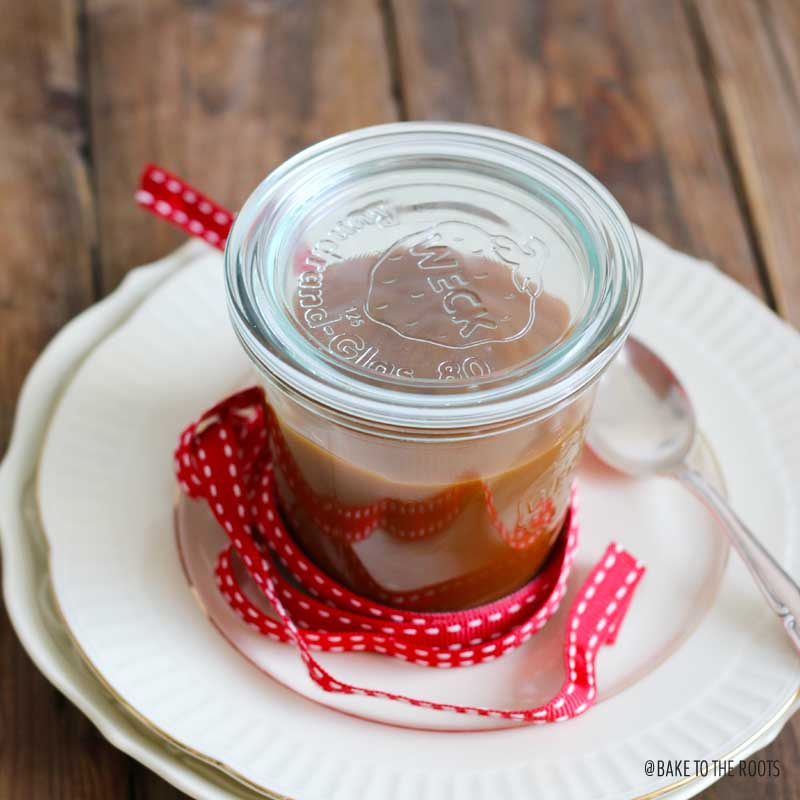Homemade Salted Caramel Sauce | Bake to the roots