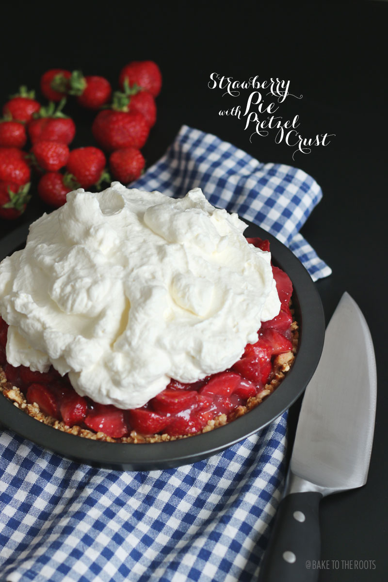 strawberry pie with pretzel crust bake to the roots. Black Bedroom Furniture Sets. Home Design Ideas
