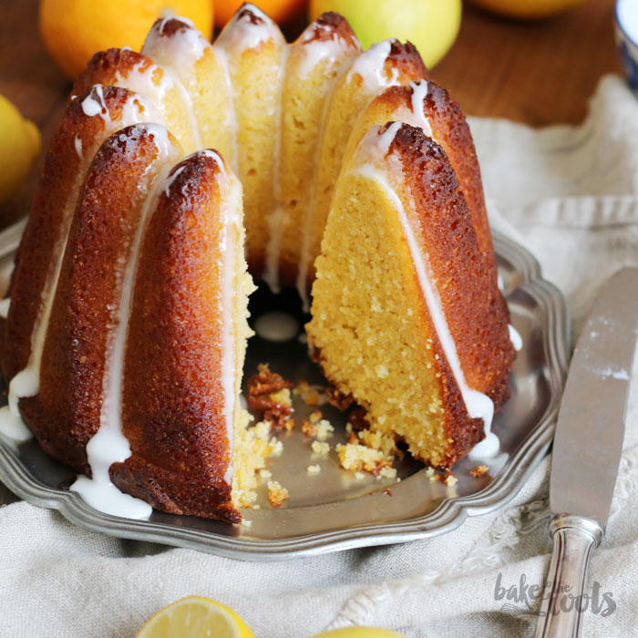 Polenta Gugelhupf with Lemon and Orange Blossom | Bake to the roots
