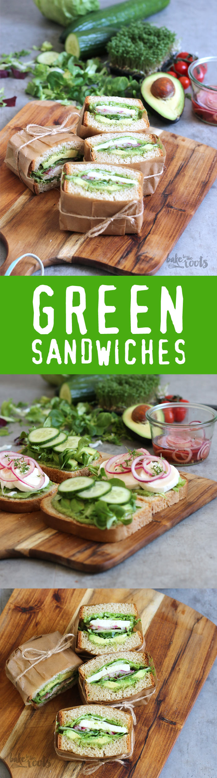 Delicious Green Sandwiches - quick and easy prepared | Bake to the roots