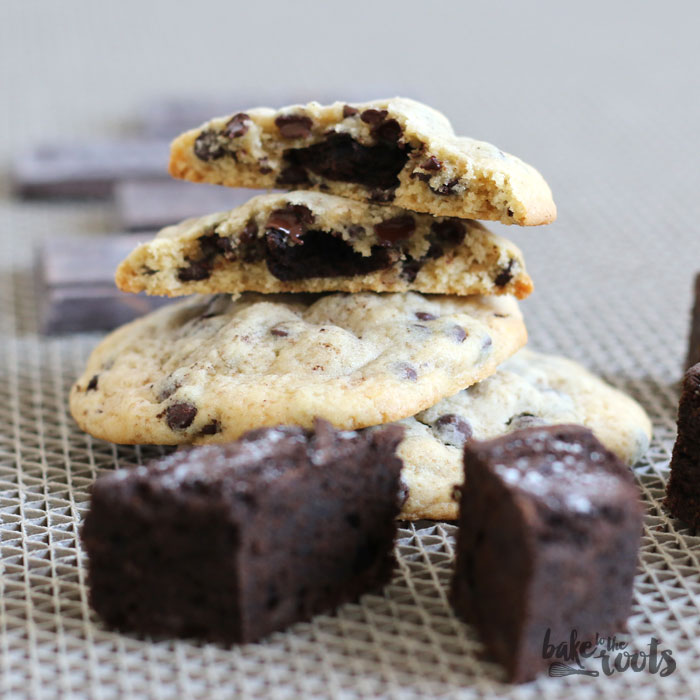 Brownie Stuffed Chocolate Chip Cookies – Bake to the roots