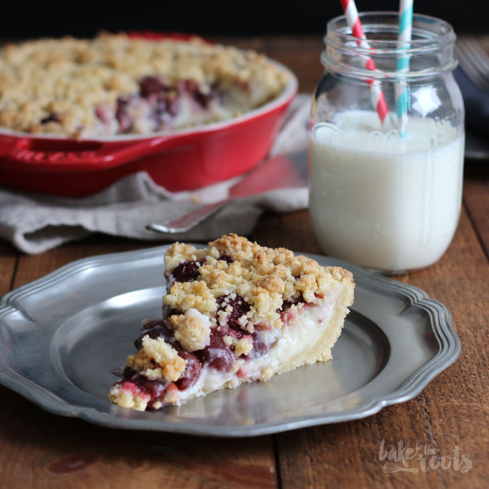 Cherry Custard Streusel Pie – Bake to the roots