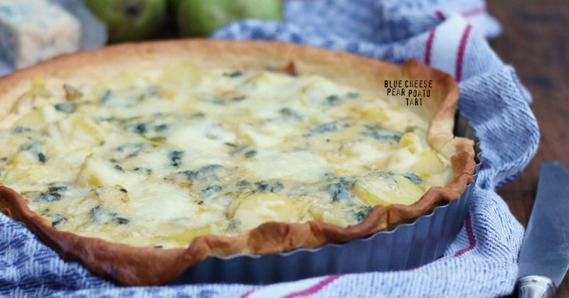 Blue Cheese Pear Potato Tart – Bake to the roots