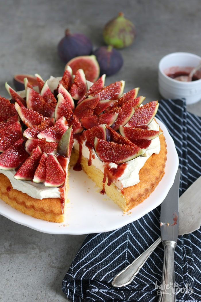 polenta cake with mascarpone cream and fresh figs bake to the roots. Black Bedroom Furniture Sets. Home Design Ideas