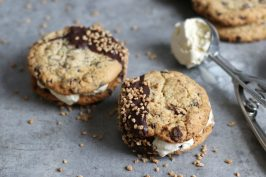 Chocolate Chip Cookie Ice Cream Sandwiches | Bake to the roots