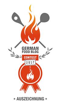 German Food Blog Auszeichnung 2017