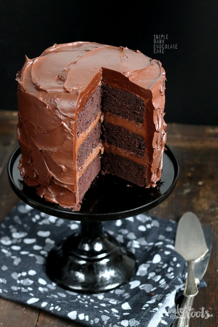 Triple Dark Chocolate Cake | Bake to the roots