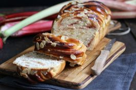 Rhubarb Strawberry Almond Swirl Bread | Bake to the roots