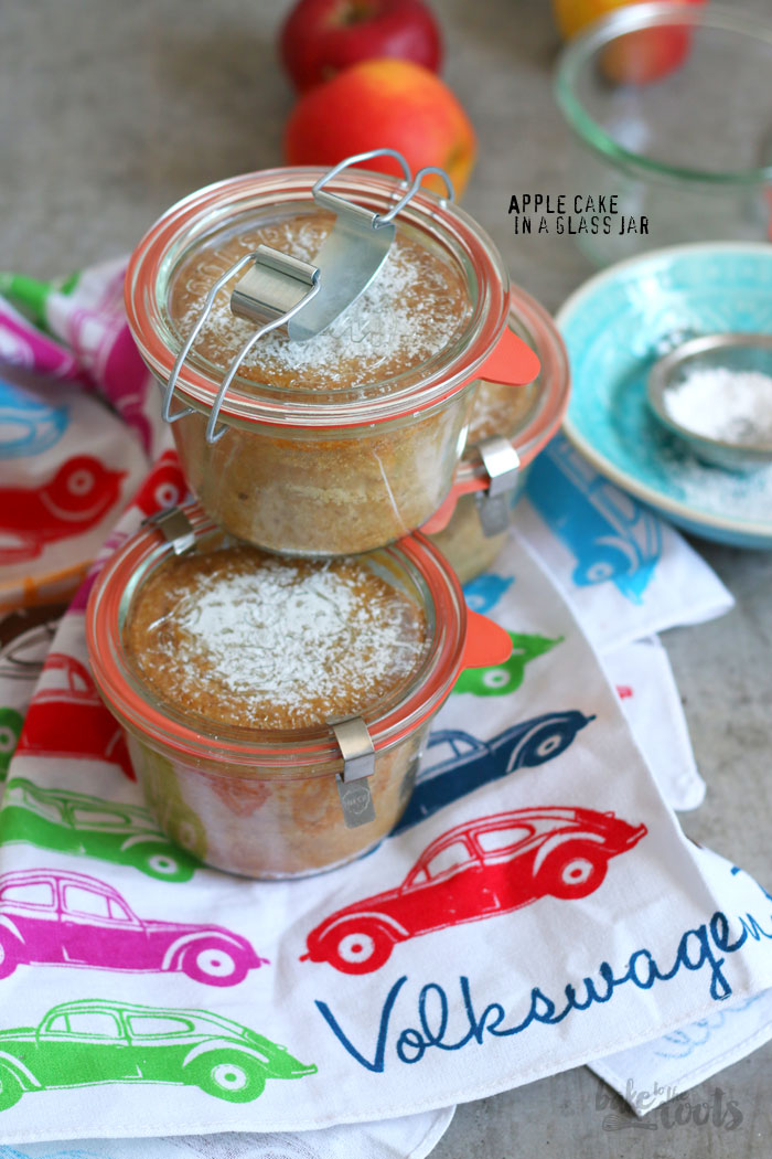 Apple Cake in a Glass Jar | Bake to the roots