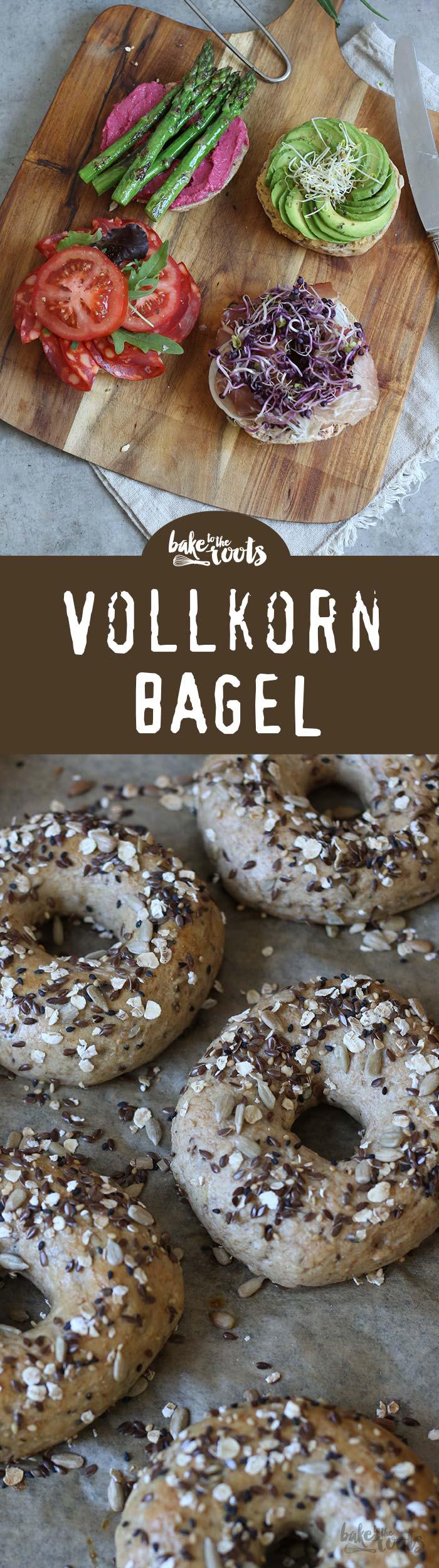 Leckere und einfach zu machende Vollkorn Bagel | Bake to the roots