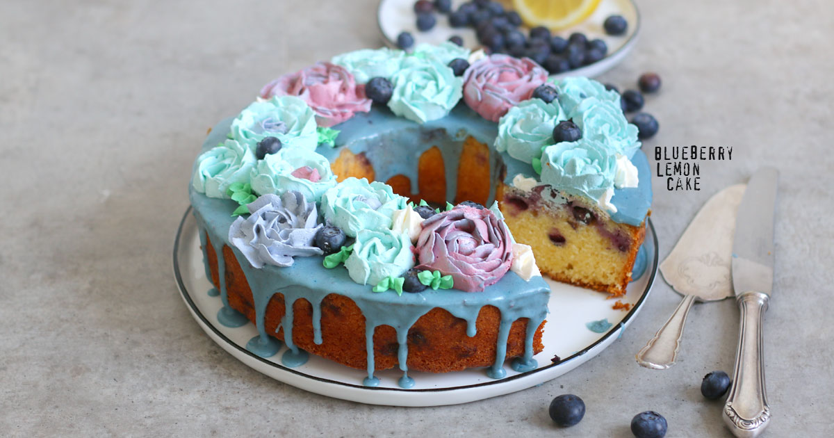 Blueberry Lemon Cake With Buttercream Flowers Bake To The Roots