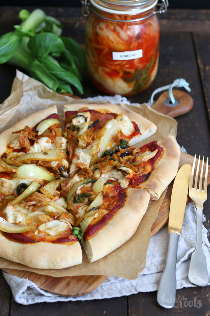 Kimchi Chicken Pizza | Bake to the roots