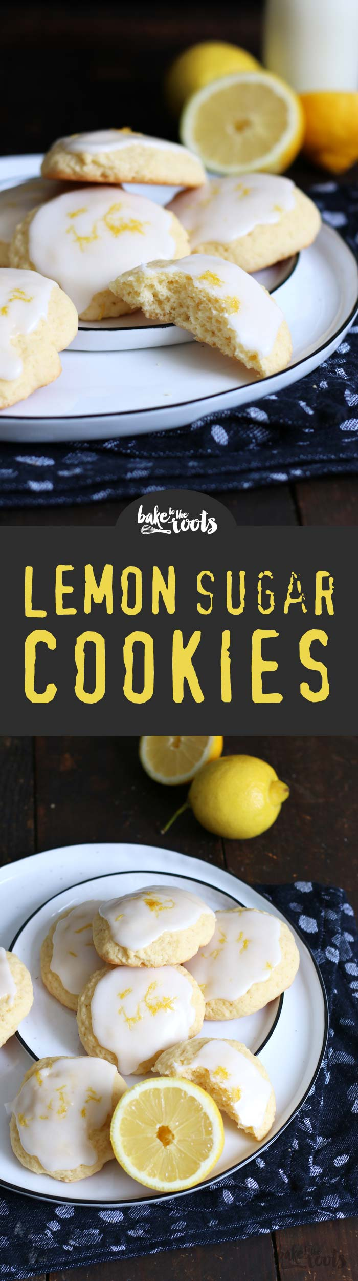 Delicious and easy to prepare sugar cookies with a nice lemon flavor. A refreshing little snack for summer. | Bake to the roots
