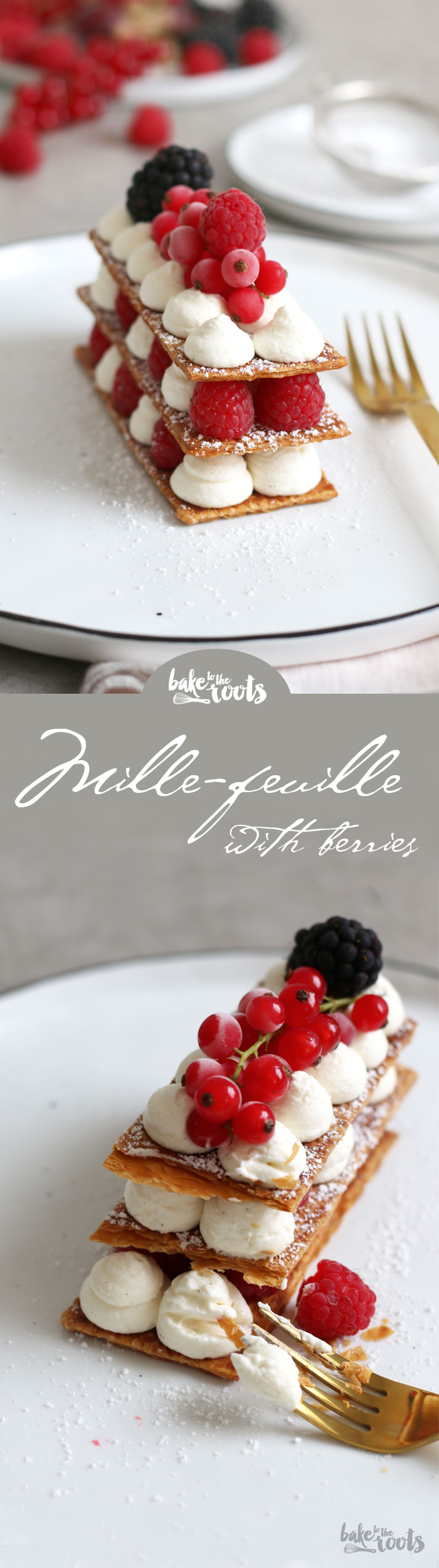 Delicious Mille-Feuille with Iced Berries | Bake to the roots