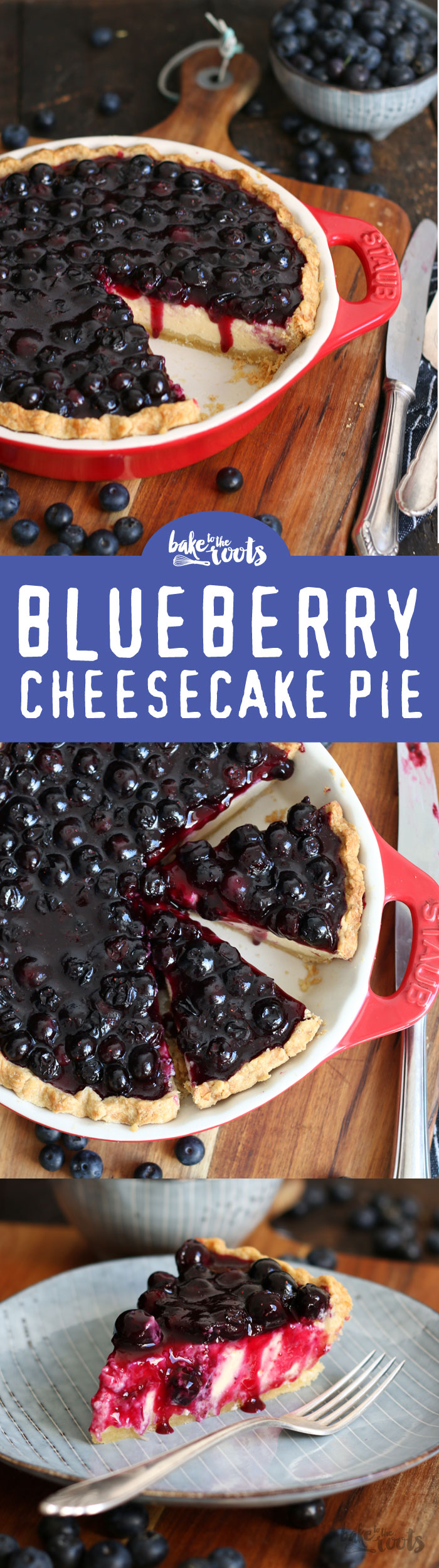 Delicious and creamy Blueberry Cheesecake Pie | Bake to the roots