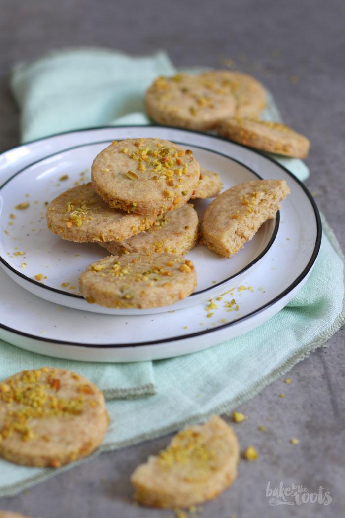 Pistacio Cardamom Shortbread Cookies | Bake to the roots