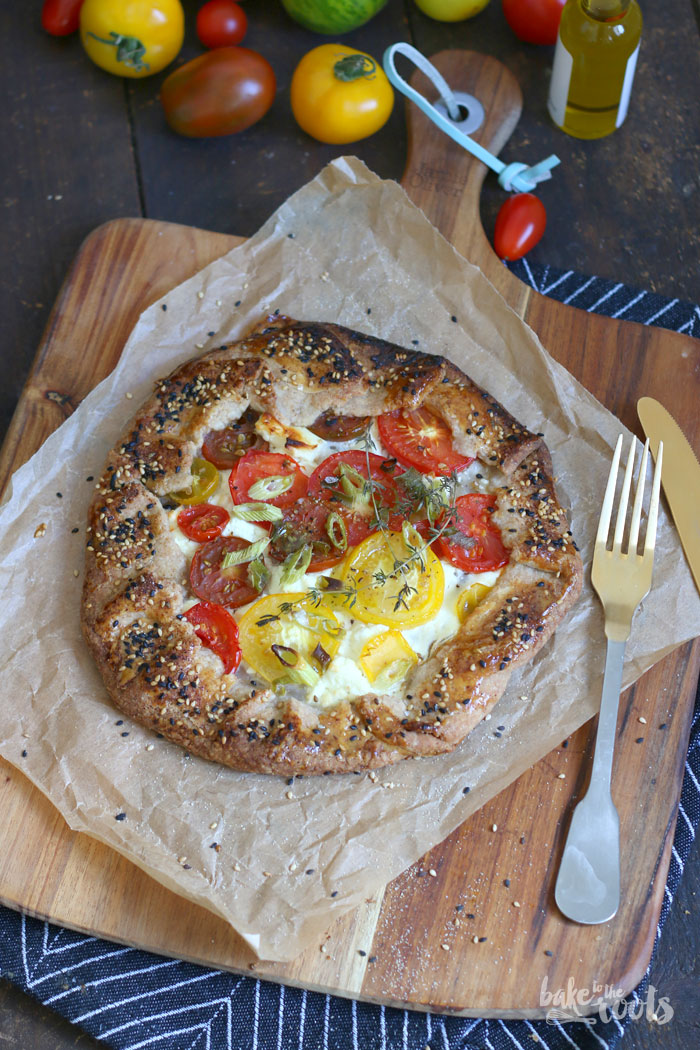 Tomato Feta Galette   Bake to the roots