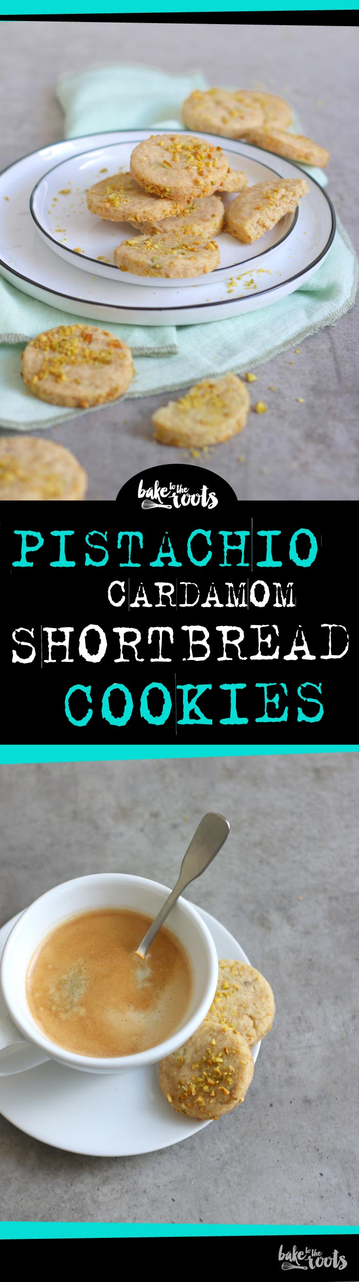 Delicious shortbread cookies with pistachios and cardamom | Bake to the roots