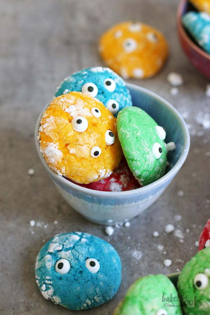 Cranky Crinkle Monster Cookies | Bake to the roots