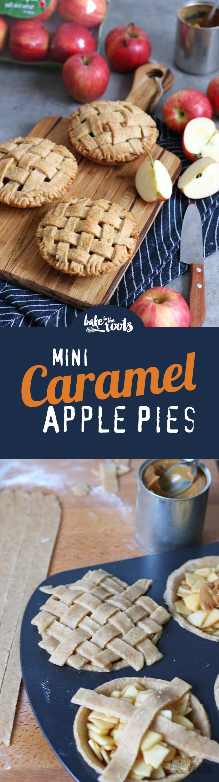 Delicious Mini Apple Pies with Caramel Dulce de Leche Filling | Bake to the roots