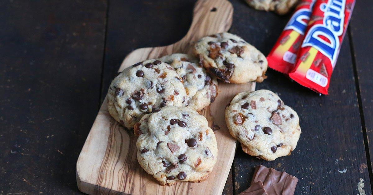 Daim Cookies mit gebräunter Butter | Bake to the roots